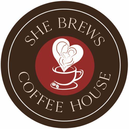 She Brews Coffee House Logo